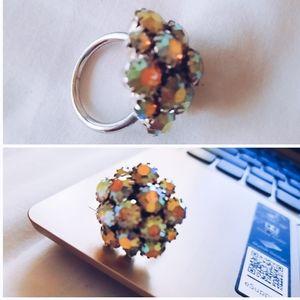 Vintage Flowers Ring 7 $65 AB